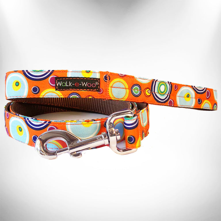 Orange Martini Dog Leash