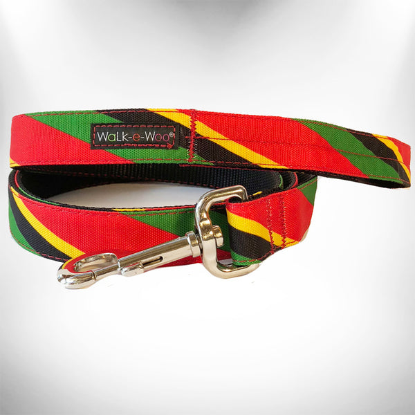 Rasta Stripes Dog Leash