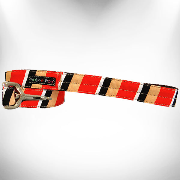 Red/Tan Stripes Dog Leash
