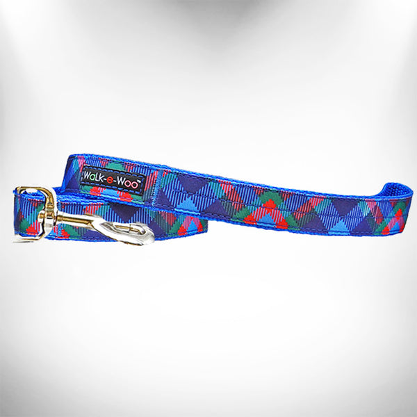 Royal Plaid Dog Leash