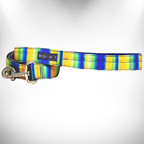 Blue/Green Tie Dye Dog Leash