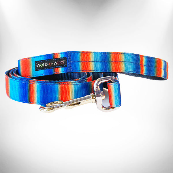 Blue/Orange Tie Dye Dog Leash