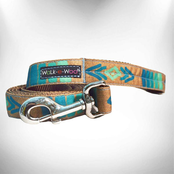 Tribal Teal Dog Leash