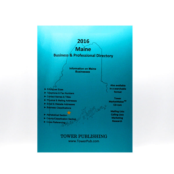 Maine Business and Professional Directory from Tower Publishing