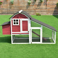 Large Red Barn Chicken Coop