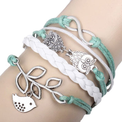 Trendy Bird Leaf Decorated Bracelet - Women - FREE SHIPPING - GOTO HOODIE