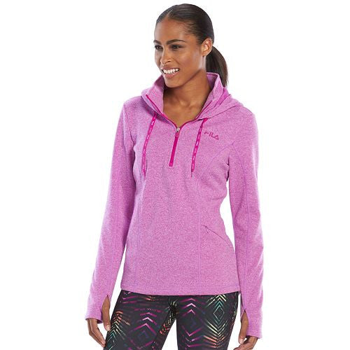 Fila Sport Fleece Quarter Zip Hawaiian Orchid Running Hoodie Fila Sport Fleece Quarter Zip Hawaiian Orchid Running Hoodie, Women - Apparel - Hoodie - Full Zip, Goto Hoodie, Style Advantage - GOTO HOODIE