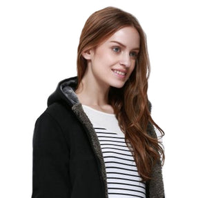 Casual Outerwear Black Thicken Hoodie - Womens - GOTO HOODIE
