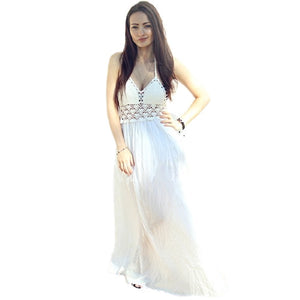 Sexy White Maxi Dress - Womens - GOTO HOODIE