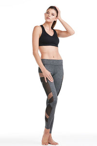 Electric Yoga Sexy Mesh Panel Charcoal Leggings - GoTo Hoodie