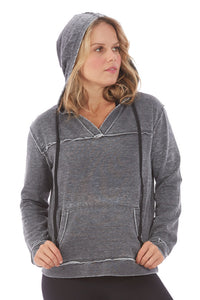 Electric Yoga V Neck Burnout Hoodie - GoTo Hoodie