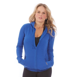 Electric Yoga - Electric Blue Thermal Hoodie - GOTO HOODIE
