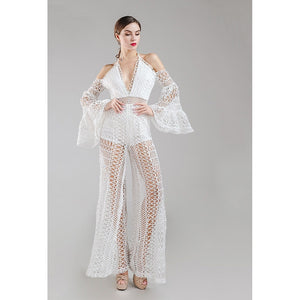 White Crochet Jumpsuit White Crochet Jumpsuit, Women - Apparel - Jumpsuits/Rompers, Evelyn Belluci, Style Advantage - GOTO HOODIE