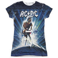 "AC/DC ""Lightning"" Cap Sleeve with Black Back - Adult & Youth (in 12 Tee and Tank Styles) - GOTO HOODIE"