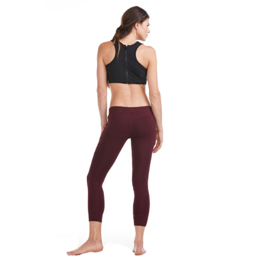 Electric Yoga Burgundy Quilted Seude Joggers - Goto Hoodie