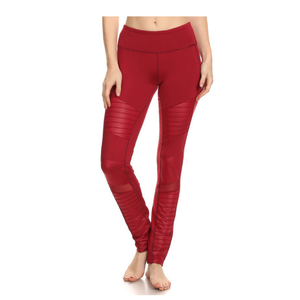 Electric Yoga Motorcycle Burgundy Pants