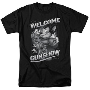 Mighty Mouse Welcome to the Gunshow T-Shirt - GOTO HOODIE