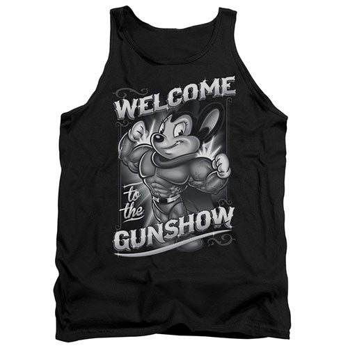 Mighty Mouse Welcome to the Gunshow Tank Top Mighty Mouse Welcome to the Gunshow Tank Top, Men/Women - Apparel - Shirts - Tank Top, Trevco, GoTo Hoodie - GOTO HOODIE