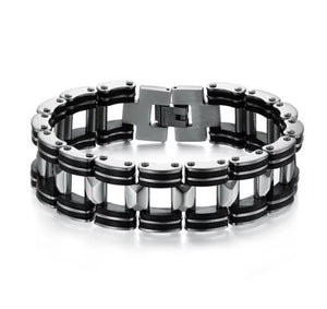 Silver Stainless Steel Chain Link Bracelet - Mens - GOTO HOODIE