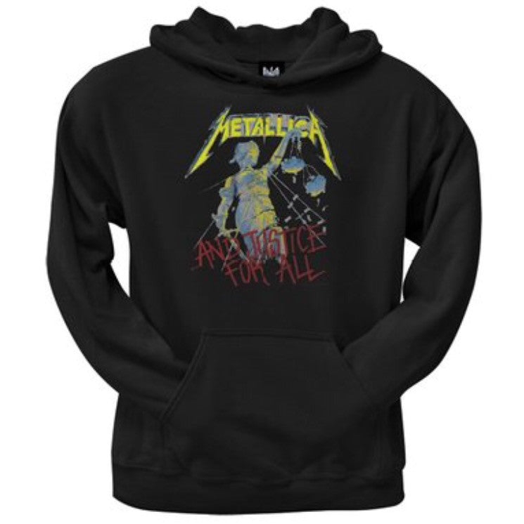 "Metallica ""And Justice For All"" Fleece Hoodie - Mens Metallica ""And Justice For All"" Fleece Hoodie - Mens, Men - Apparel - Hoodie - Pullover, American Tee Shirt, Style Advantage - GOTO HOODIE"