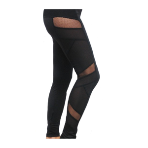 Electric Yoga Sexy Mesh Panel Black Leggings - GOTO HOODIE