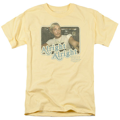 "Dazed and Confused ""Alright Alright"" Tee Shirt - Adult Dazed and Confused ""Alright Alright"" Tee Shirt - Adult, Men/Women - Apparel - Shirts - T-Shirts, Trevco, GoTo Hoodie - GOTO HOODIE"