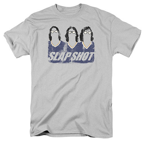 "Slap Shot ""Hanson Brothers"" Tee Shirt - Adult Slap Shot ""Hanson Brothers"" Tee Shirt - Adult, Men/Women - Apparel - Shirts - T-Shirts, Trevco, Style Advantage - GOTO HOODIE"