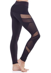 4dcf5dfe2a4e01 Electric Yoga · Sexy Mesh Panel Leggings