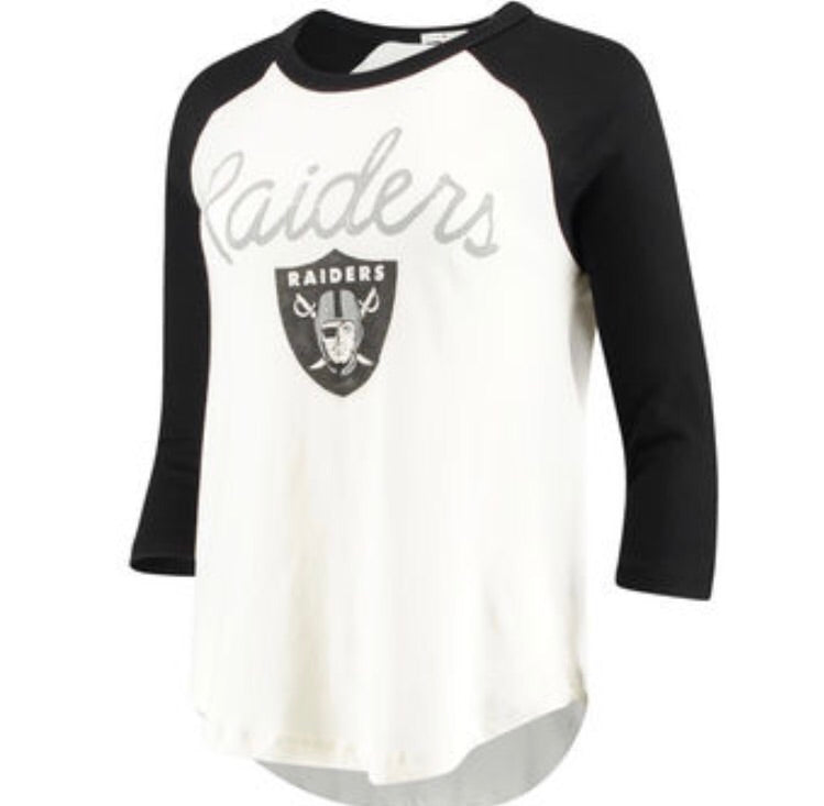 Raiders Raglan Raiders Raglan, Women - Apparel - Shirts - T-Shirts, Junk Food Clothing, Style Advantage - GOTO HOODIE