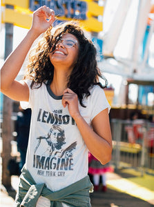 John Lennon Imagine Raglan Tee John Lennon Imagine Raglan Tee, Women - Apparel - Shirts - T-Shirts, Junk Food Clothing, GoTo Hoodie - GOTO HOODIE