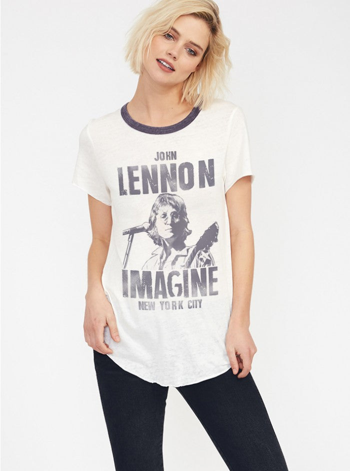 John Lennon Imagine Raglan Tee - Junk Food Clothing - GOTO HOODIE