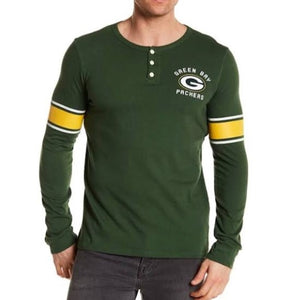 Vintage Green Bay Packers Huddle Long Sleeve Henley Shirt