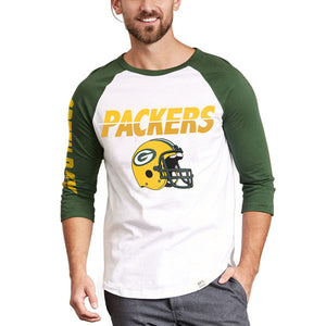 Green Bay Packers Raglan Green Bay Packers Raglan, Men - Apparel - Shirts - T-Shirts, Junk Food Clothing, GoTo Hoodie - GOTO HOODIE
