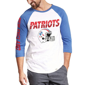 New England Patriots Raglan New England Patriots Raglan, Men - Apparel - Shirts - T-Shirts, Junk Food Clothing, Style Advantage - GOTO HOODIE