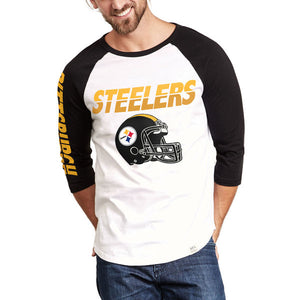 Pittsburgh Steelers Raglan Pittsburgh Steelers Raglan, Men - Apparel - Shirts - T-Shirts, Junk Food Clothing, Style Advantage - GOTO HOODIE