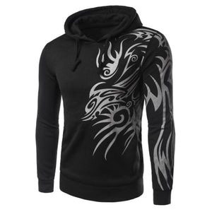 Vogue Hooded Totem Print Long Sleeves Hoodie - Men Vogue Hooded Totem Print Long Sleeves Hoodie - Men, Men - Apparel - Hoodie - Pullover, Goto Hoodie, Style Advantage - GOTO HOODIE