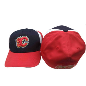Calgary Flames Reebok NHL FlexFit Hat - One Size Fits All - GOTO HOODIE