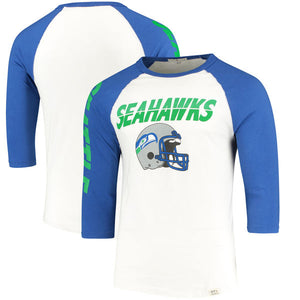 Seattle Seahawks Raglan Seattle Seahawks Raglan, Men - Apparel - Shirts - T-Shirts, Junk Food Clothing, Style Advantage - GOTO HOODIE