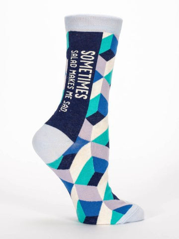 Blue Q Socks: Sometimes Salad Makes Me Sad Women's Socks