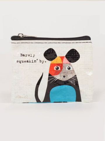 Blue Q Coin Purse: Barely Squeakin' By