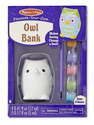 Melissa & Doug Decorate-Your-Own Kit: Owl Bank