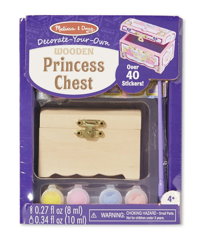 Melissa & Doug Decorate-Your-Own Kit: Princess Chest