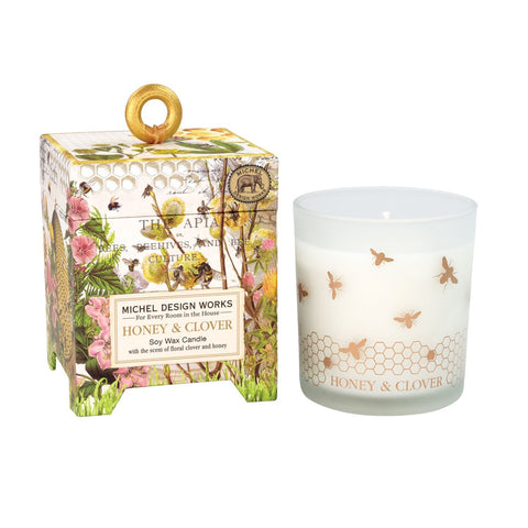Michel Design Works Soy Candle: Honey & Clover
