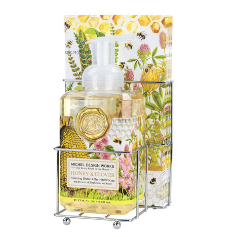 Michel Design Works Foaming Hand Soap Napkin Set: Honey & Clover