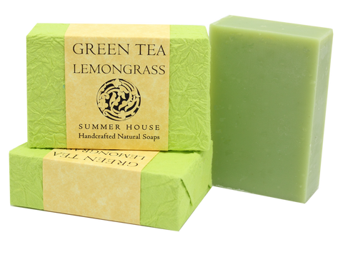 Summer House: Green Tea Lemongrass Summer House Natural Soap
