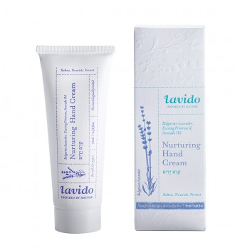 Lavido Bulgarian Lavender, Evening Primrose, and Avocado Oil Nurturing Hand Cream
