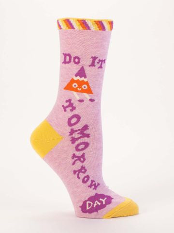 Blue Q Socks: Do It Tomorrow Women's Socks