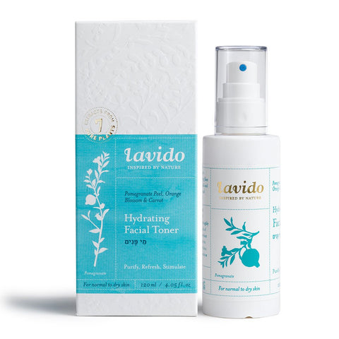 Lavido Hydrating Facial Toner: Pomegranate Peel, Orange Blossom, and Carrot