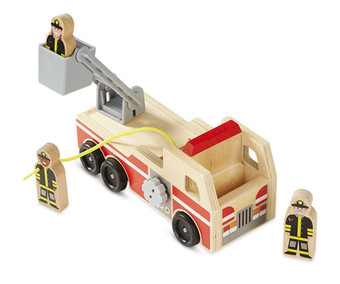 Melissa & Doug Wooden Firetruck Set
