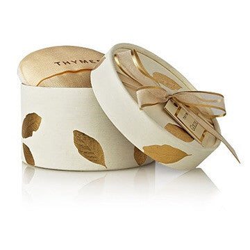 Thymes Dusting Powder with Puff: Gold Leaf